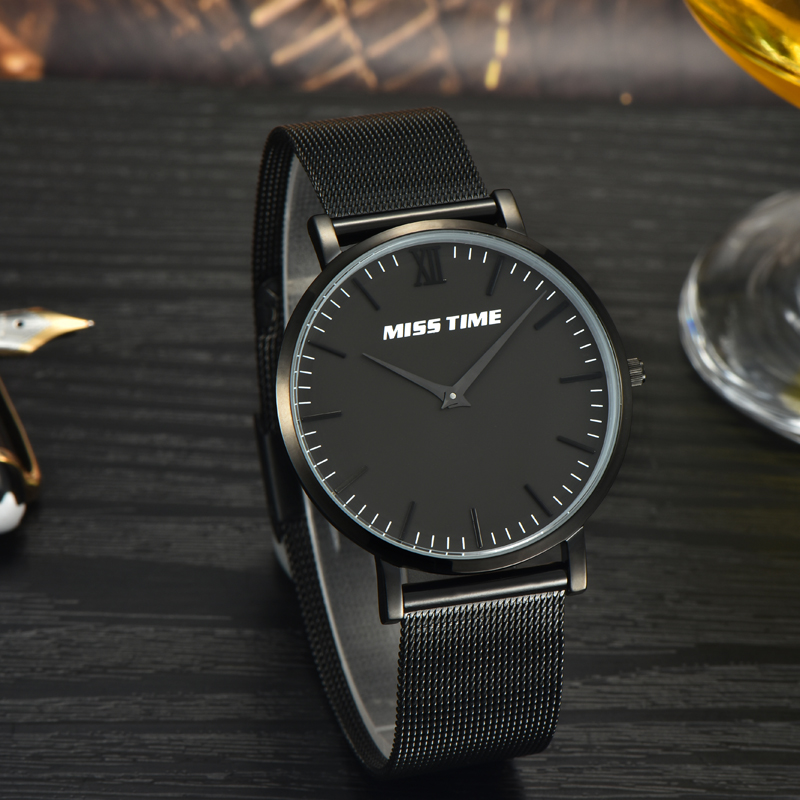 Fashion brand custom dial mesh band dropship watch