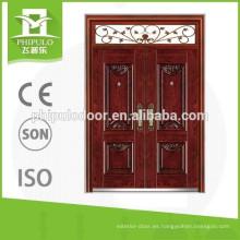 Diferentes diseños de puertas de acero de una y media puerta insonorizadas.