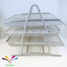 La alta calidad modificó a 3 bastidores el organizador decorativo del archivo de la revista del acoplamiento del metal de la oficina