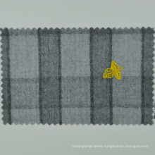 italian LORO CADINI made to measure grey plaid cloth 100% wool for high end men's suit