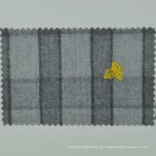 italiano LORO CADINI feito para medir o pano xadrez cinza 100% lã para terno masculino high-end