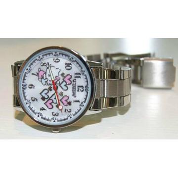 Reloj de metal a prueba de agua de moda de alta calidad del silicón