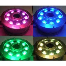 2014 hot sale 9w 12w ip68 RGB underwater led swimming poll lights