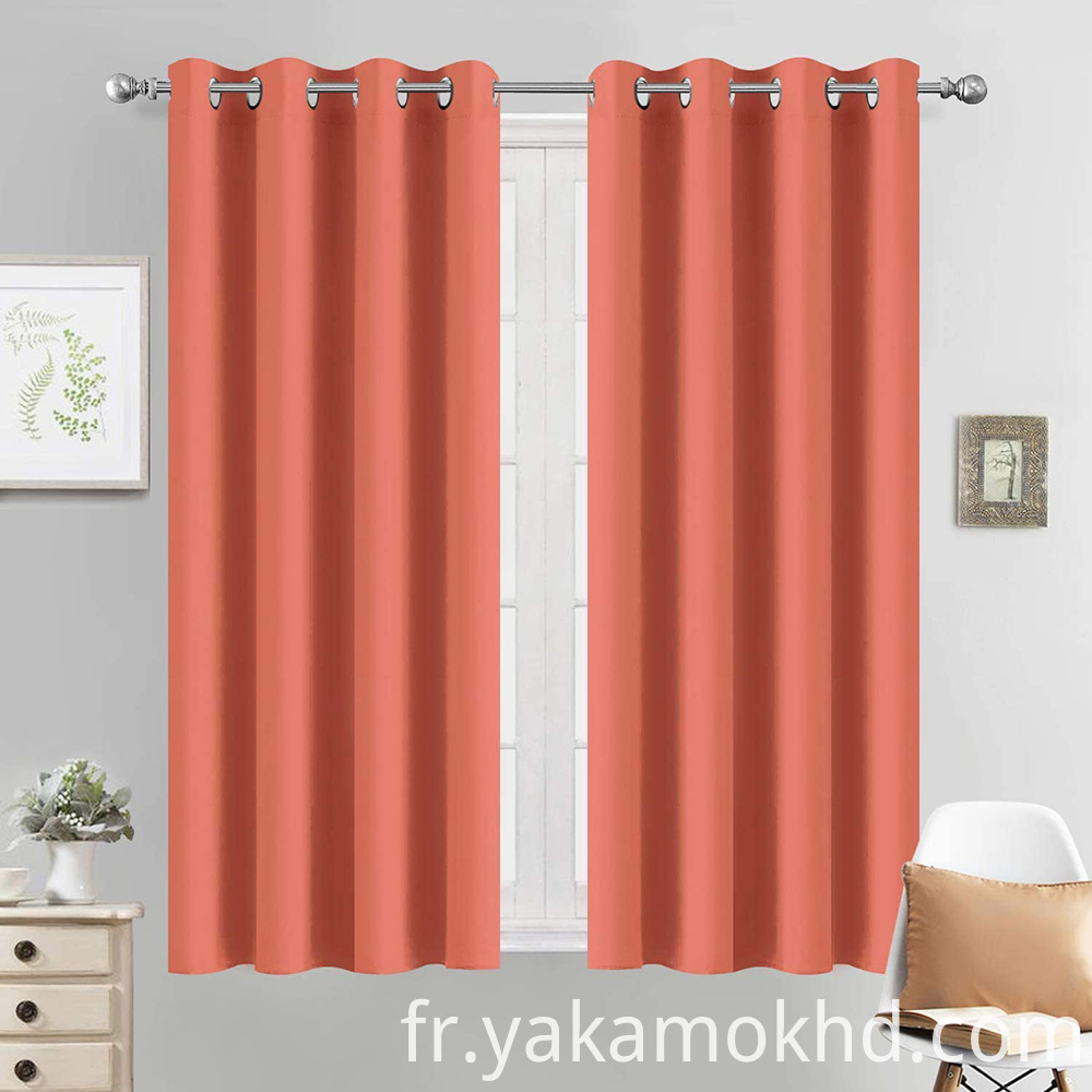 Coral Blackout Curtains 54 Inch Long