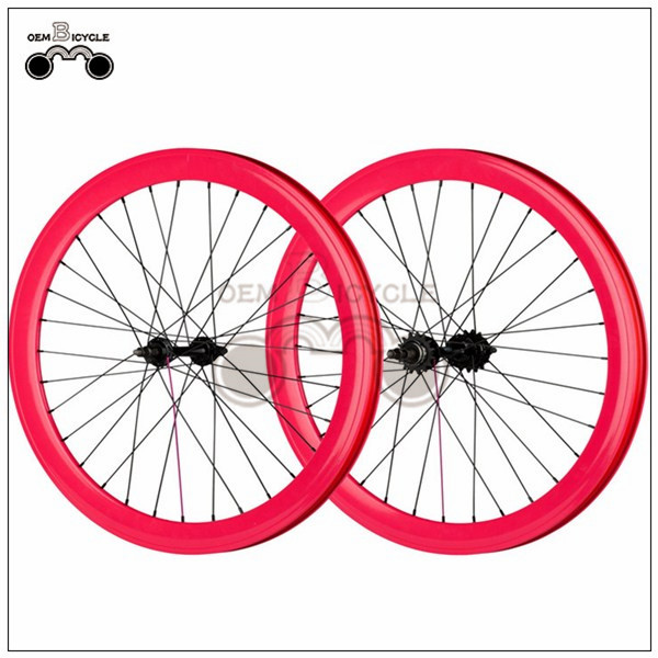 700C 40mm fix double-walled aluminum wheelset8