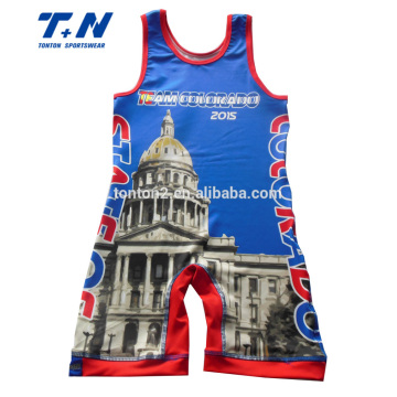 Sublimation numérique 3D Print Compressing Wrestling Singts