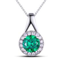 Fashion Jewelry Findings Gemstone Green Color Pendentif en argent