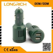 Chargeur de voiture double USB portable, chargeur de téléphone portable, chargeur de voyage mobile