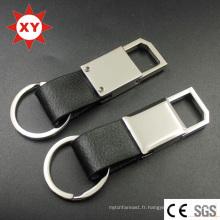 Keychain en cuir noir fait sur commande d'approvisionnement d'usine pour la voiture