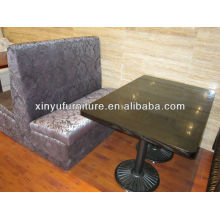 Double booth sofa with table sets XY0911