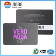 Personalizado de PVC Transparente Clear Magnetic Card