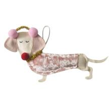 Christmas ornament with 3D cute dog shape