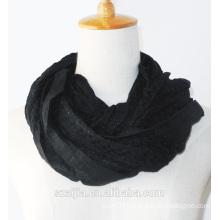 Fashion new lady solid shiny long scarf