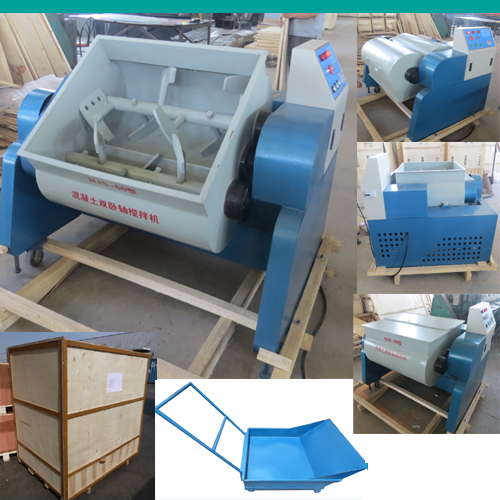 Lab double shaft concrete mixer