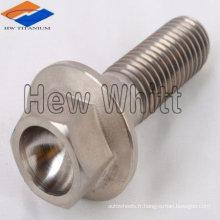 Boulon à collerette en titane DIN 1662/1665 ISO 4162