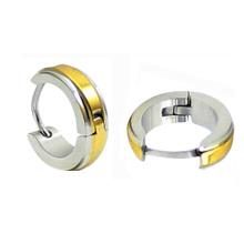 Серьги Huggies из желтого золота 14K с покрытием из нержавеющей стали HE-023