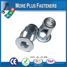 """Made in Taiwan Screw Stainless Steel 1/4""""-20 Zinc with Sealer Mirror Mounting Blind Jack Nut"""