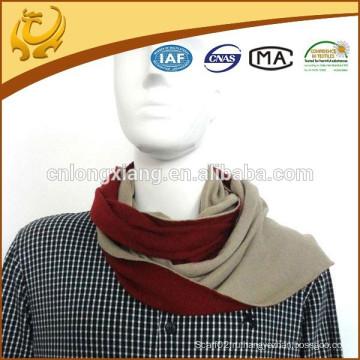 Собственный заводский дизайн Реверсивный шарф для шарфов из натурального материала 100% для мужчин