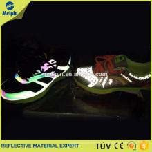Cuir d'unité centrale réfléchissante de 0.8mm pour des chaussures / unité réfléchissante argentée foncée