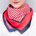 Moda atacado impresso poliéster gravata pequeno lenço de pescoço quadrado