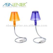 Lámpara de escritorio LED flexible USB Lámpara de escritorio USB