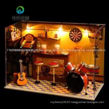 Green Bar DIY Doll House Miniature Doll Houses Toys