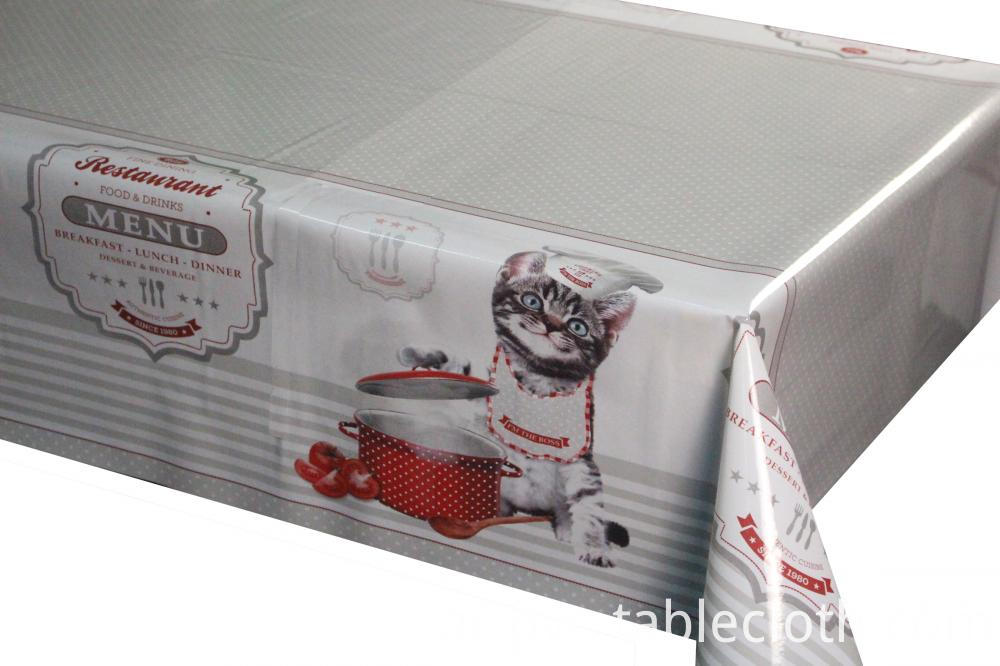 3D printed tablecloth with non woven backing