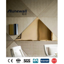 Alunewall high quality panel composite aluminum gold mirror for curtain wall cladding