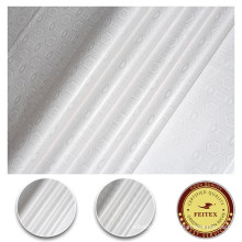 White 100% Cotton Textile Fabric Price Per Yard Sewing Material For African Women Bazin Riche Fabric