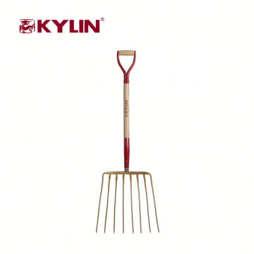 Fast Delivery Agriculture Hand Tools Grass Steel Fork With Wooden Handle
