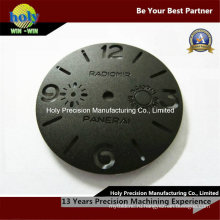Изготовленный на заказ Алюминиевый подвергать механической обработке CNC гравировка часы