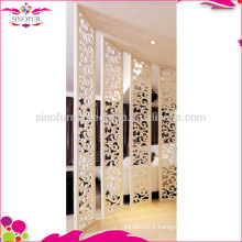 Fashion simple white room divider folding screen