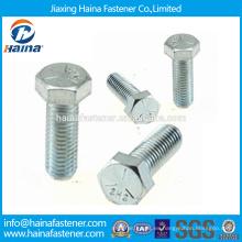 En existencia Proveedor Chino Mejor Precio DIN933 Acero al carbono / Acero inoxidable / Zinc niquelado ZI-NI Acero hexagonal plateado