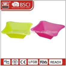 Öko-Square Farbe angepasst PP Material mikrowellengeeignet Kunststoff Salatschüssel