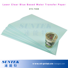 Laser Blue Based Clear Water Slide Decal Paper