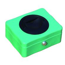 China wholesale  security key lock cash box metal money box with plastic handle