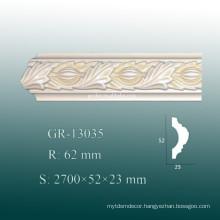 Eco-friendly Decorative Light PU Ceiling Panel Moulding