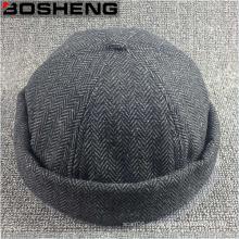 Personalizado de moda de carbón de tela de Jersey Dome Beanie Hat