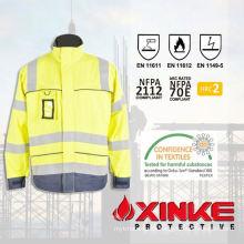 EN471 HV safety fr jacket with reflective tape