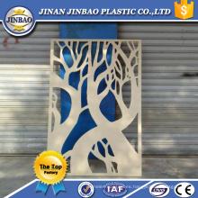 hoja decorativa tallada del panel del tablero de la espuma del pvc de la función decorativa blanca