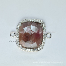 New Design Sterling Silver Gemstone Bezel Station, Handmade Gemstone Bezel Connector Manufacturer