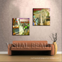 Wall Art New York London Oil Painting on Canvas Abstract Cityscape