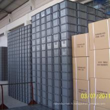 Caisse en plastique empilable / caisse en plastique pour l'industrie logistique