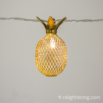 10 LEDs Pineapple Line Light Metal Mesh