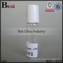 0.4 oz roll on tube bottle with glass roller and white lid