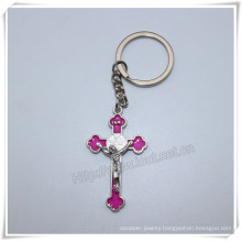 Wholesale Cross Alloy Metal Key Chain Personalized Religious Cross Key Chain (IO-ck106)