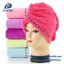 Turbante por atacado do cabelo de toalha do salão de beleza de secagem do cabelo de Microfiber