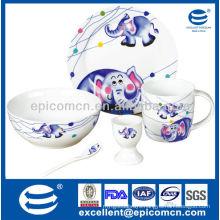 porcelain breakfast set for kids BC8099 new birth gift