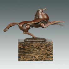 Animal Bronze Sculpture Small Flying Horse Decor Brass Statue Tpal-310