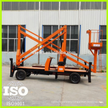 good diesel engine self-propelled articulated telescopic boom lift with iso